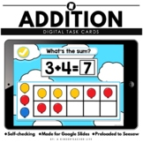 Addition to 10 Distance Learning | Literacy and Math Task Cards