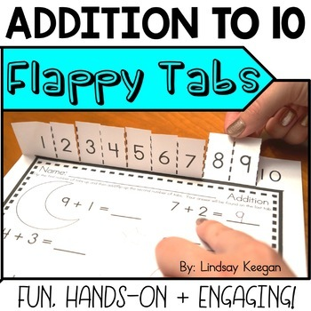 Addition Facts to 10 - Flappy Tabs Addition Practice