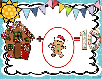 Addition to 10 Game Gingerbread Man in the House for K-1