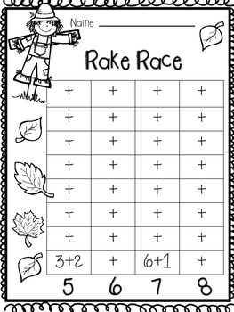 Addition to 10 Game (Rake Race)
