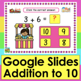 Addition to 10 Google Slides 56 Self-Checking Facts Distan