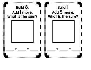 Addition (to 10) Hands-On Task Cards
