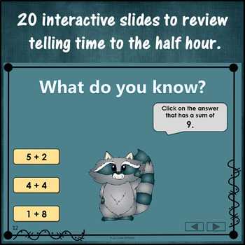 Addition to 10 Interactive Math Game {Dancing Raccoon}