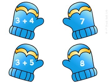 Winter Math Addition to 10 Game