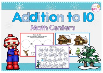 Addition to 10 Math Centers