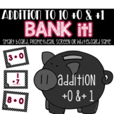 Addition to 10 Plus Zero & Plus One Bank It! Projectable Game