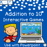 Addition to 10 Interactive Powerpoint Games Pack ~ 9 Difficulty Levels ~ K-1st