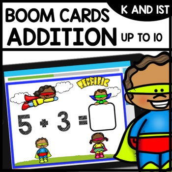 Addition to 10 Practice BOOM CARDS