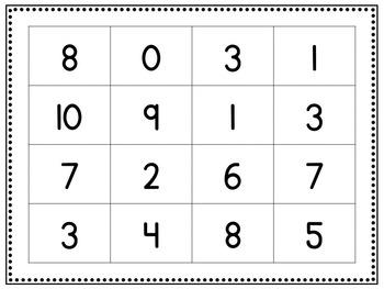 Addition to 10 Bingo