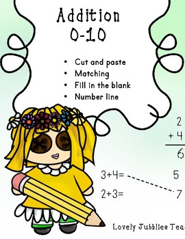 Addition to 10 Practice: Matching, Cut and Paste, and Fluency