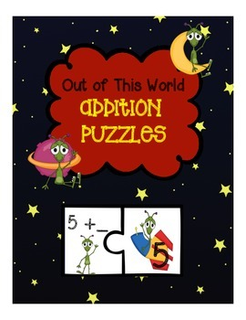 Addition to 10 Puzzle Freebie