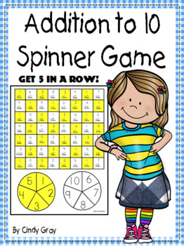 Addition to 10 Spinner Game