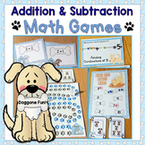 Addition to 10, Subtraction to 10 Math Games, Equation Boards, & Cards