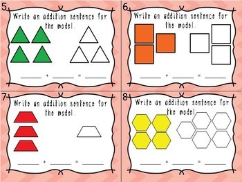 Addition to 10 Task Card Center - Common Core