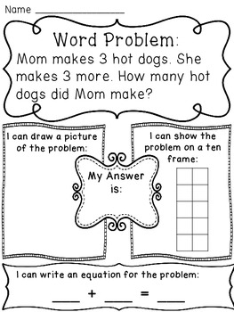 Addition Word Problems Worksheets