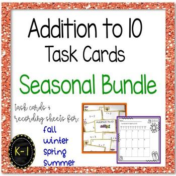 Addition to 10 - Year Round Seasonal Task Card Bundle