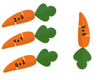 Addition to 10 - using carrots!