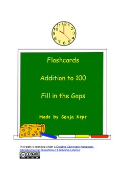 Addition to 100 - Fill in the Gap (second number missing)