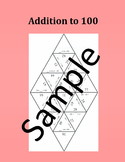 Addition to 100 – Math puzzle