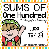 Addition to 100: Sums of 100 {Freebie!}