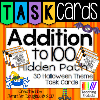 Addition to 100 Task Cards - Halloween Theme