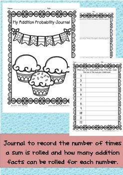 Addition Facts to 12 Game and Probability Journal