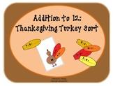 Thanksgiving Turkey Sort: Addition to 12
