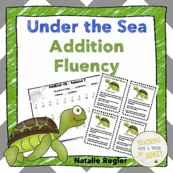 Addition to 18: Under the Sea Math Fluency Aligned with Common Core