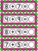 Addition to 20 Bottle Cap Math Centers