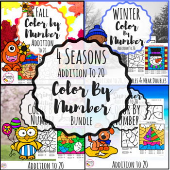 Addition to 20 Color by Number- 4 Seasons {Growing Bundle}