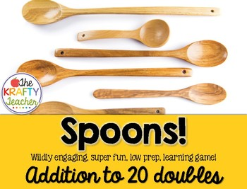 Addition to 20 Doubles, Game, Spoons Math, Kindergarten, First
