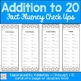 Addition to 20 Fact Fluency Check Ups