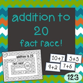 Addition to 20 Fact Race Game