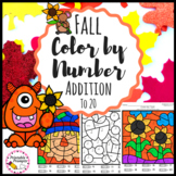 Fall Color By Number Addition to 20