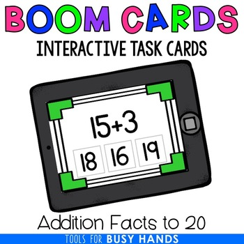 Addition to 20 Interactive Digital Task Cards (Boom! Deck)