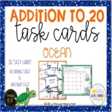 Addition to 20 ~ Ocean Math Center ~ Task Cards