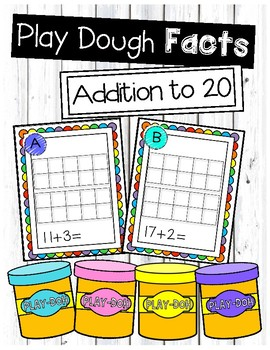 Addition to 20 Play Dough Task Cards