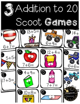 Addition to 20 SCOOT -- 3 Full Scoot Games