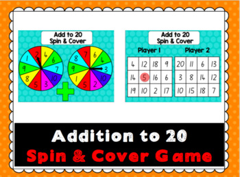 Addition to 20 Spin and Cover Game
