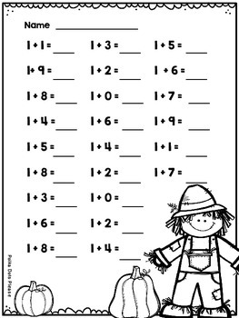 Addition to 20 Sprints for Math Fluency {{Autumn}}