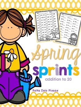 Addition to 20 Sprints for Math Fluency {{SPRING}}