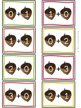 Addition to 20 (Squirrely Sums Math Center Game)