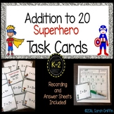 Addition to 20 ~ Superhero Math Center ~ Task Cards