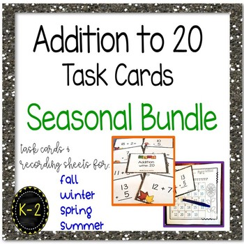 Addition to 20 Task Cards Year Round Bundle