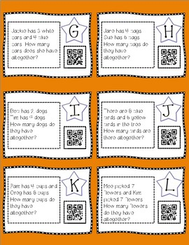 Addition to 20 Task Cards with QR Codes