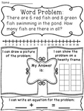 Addition to 20 Word Problems Worksheets