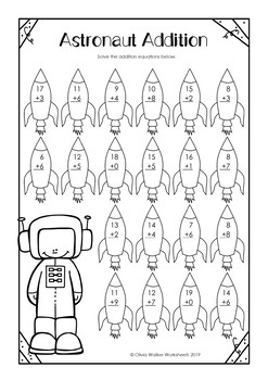 Addition to 20 Worksheets (Adding to Twenty Printables) / All Varied / No Prep