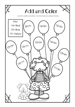 addition to  worksheets adding to twenty printables  all varied  addition to  worksheets adding to twenty printables  all varied  no  prep