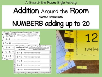 """""""Search the Room"""" Addition to 20 on a Number Line"""