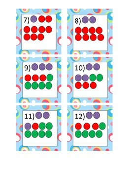 Addition to 20 using pictures